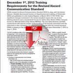 Dec 1 OSHA deadline looming for new HCS training